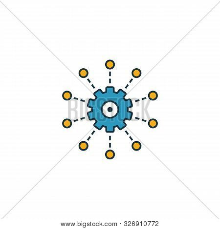 Frameworks Icon. Outline Filled Creative Elemet From Big Data Icons Collection. Premium Frameworks I