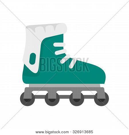 Glide Inline Skates Icon. Flat Illustration Of Glide Inline Skates Vector Icon For Web Design