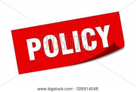 Policy Sticker. Policy Square Isolated Sign. Policy