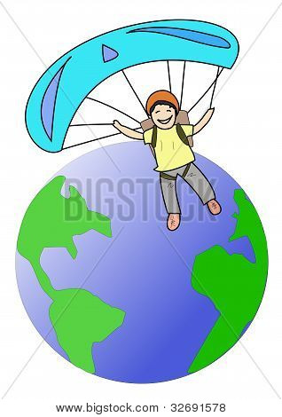 Parachute around the world