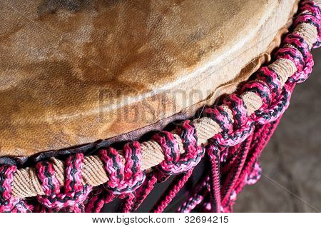 Closeup Djembe Head