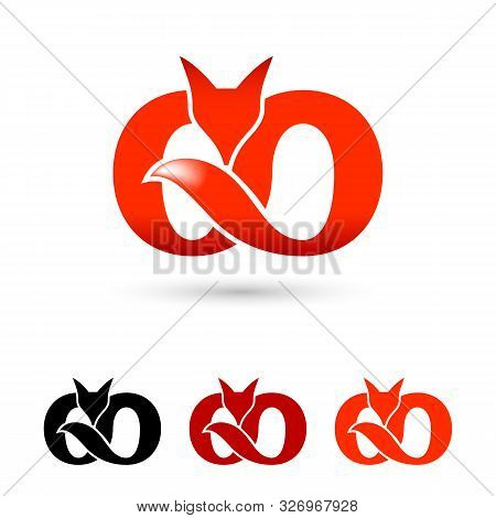 Illustration Of Creative Fox Logo Symbol. Modern Icon For Logos And Emblem. Creative Fox Infinity Mo