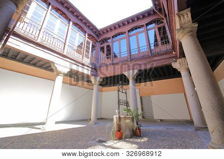 Segovia Spain - May 29, 2019: Official College Of Architects Of Segovia Old Building Segovia Spain