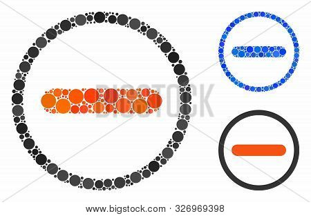 Restricted Composition Of Circle Elements In Different Sizes And Color Tones, Based On Restricted Ic