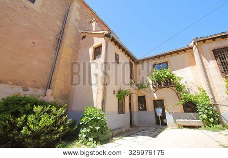 Segovia Spain - May 29, 2019: Antonio Machado House Museum Old Building Segovia Spain