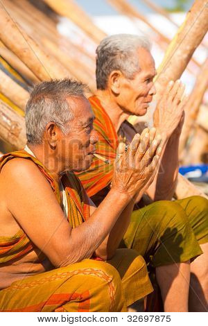 Village Elders Traditional Greeting Wai