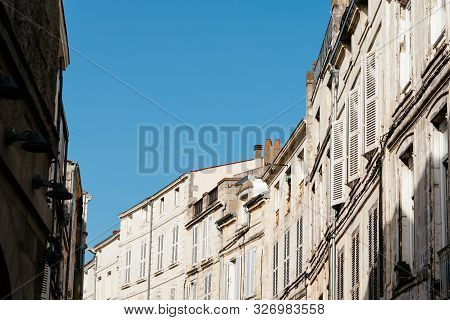 Decadent Old Residential Buildings In European City