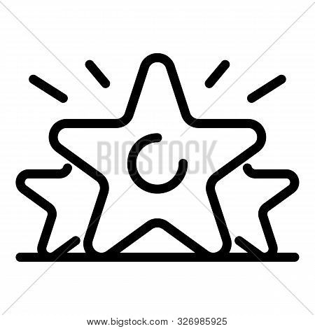 Earn Star Rating Icon. Outline Earn Star Rating Vector Icon For Web Design Isolated On White Backgro