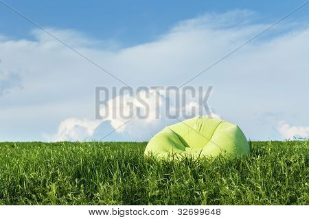 Inflatable Armchair Outdoors In The Grass