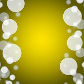 Yellow Bokeh Background With Blank Copy Space And Borders poster