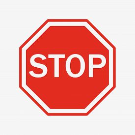 Vector Stop Sign Icon. Flat Style. Red Stop Sign For Your Web Site Design, Logo, App, Ui. Stop Traff