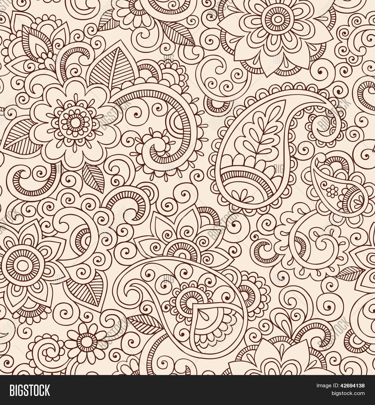 henna mehndi tattoo doodles vector photo bigstock. Black Bedroom Furniture Sets. Home Design Ideas