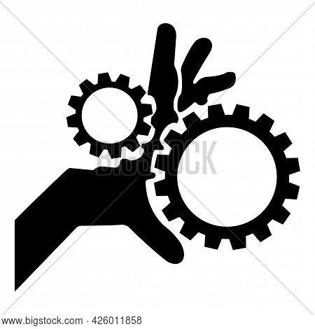 Moving Parts Symbol Isolate On White Background,vector Illustration Eps.10