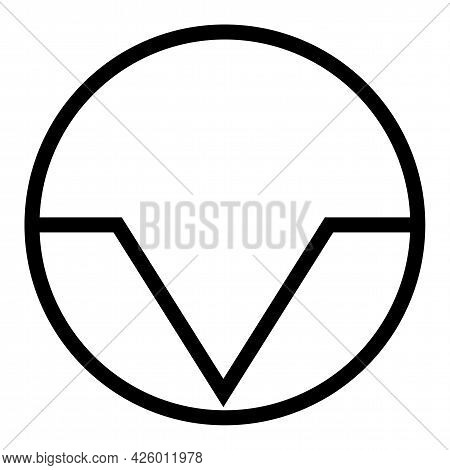 Pause Interruption Symbol Sign, Vector Illustration, Isolate On White Background Label. Eps10