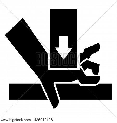 Caution Hand Crush Force From Above Symbol Sign