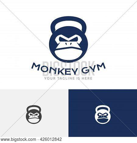 Strong Monkey Gym Iron Kettlebell Gorilla Ape Sport Logo