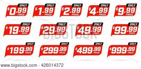Only Cheap Price And Sale Discount Product Item Sticker Set. Retail Promotion Marketing Material Des