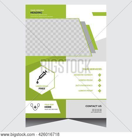 Green Creative Modern Medical Flyer Design Template