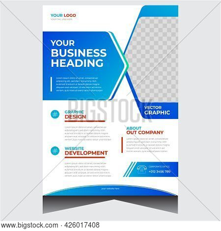 Blue And White Professional Corporate Business Flyer Design Template