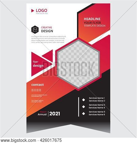 Black And Red Simple Company Business Flyer Design Template