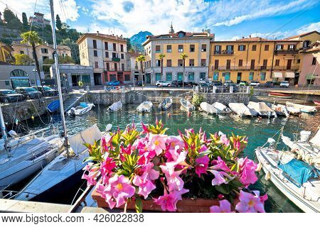 Town Of Menaggio On Como Lake Waterfront View, Lombardy Region Of Italy