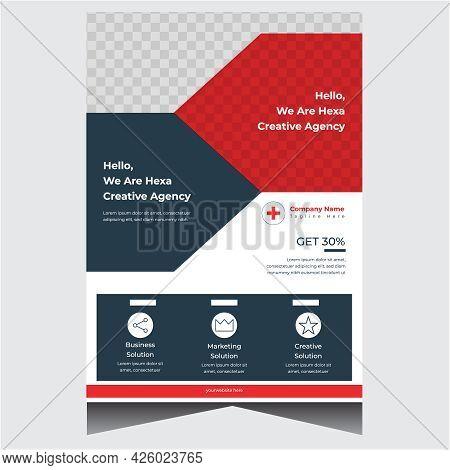 Dark Blue Modern Business Flyer Design Template