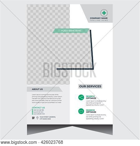 Green And White Business Flyer Design Template