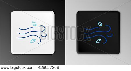 Line Wind Icon Isolated On Grey Background. Windy Weather. Colorful Outline Concept. Vector