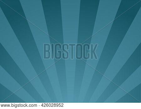 Sunlight Background. Blue Color Burst Background With White Highlight. Fantasy Vector Illustration.