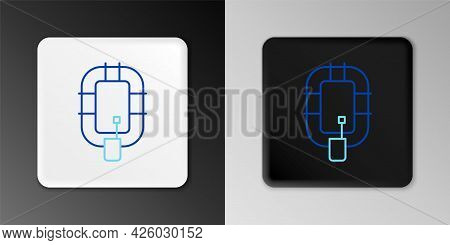 Line Inflatable Boat Icon Isolated On Grey Background. Rafting Boat. Water Sports, Extreme Sports, H