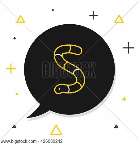 Line Worm Icon Isolated On White Background. Fishing Tackle. Colorful Outline Concept. Vector