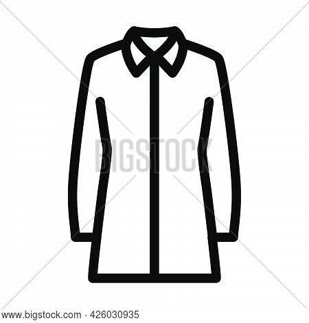 Business Blouse Icon. Bold Outline Design With Editable Stroke Width. Vector Illustration.