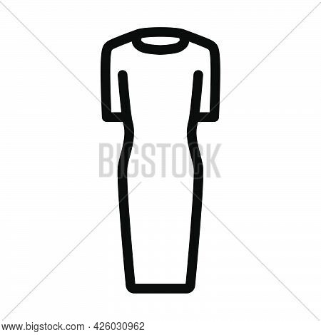 Business Woman Dress Icon. Bold Outline Design With Editable Stroke Width. Vector Illustration.