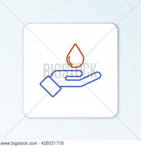 Line Washing Hands With Soap Icon Isolated On White Background. Washing Hands With Soap To Prevent V