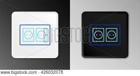 Line Electrical Outlet Icon Isolated On Grey Background. Power Socket. Rosette Symbol. Colorful Outl