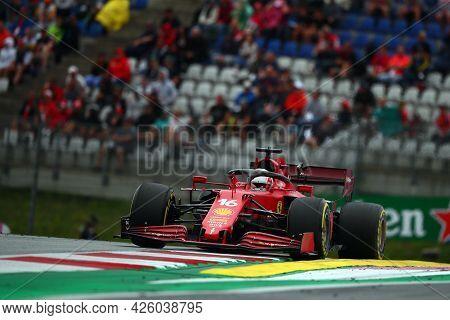 Spielberg, Austria. 2 July 2021.  Charles Leclerc Of Scuderia Ferrari   On Track During Free Practic