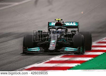 Spielberg, Austria. 2 July 2021.  Valtteri Bottas Of Mercedes Amg F1 Team   On Track During Free Pra