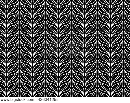 Damask Seamless Vector Pattern. Royal Wallpaper. White And Gray Ornament With Royal Lily.