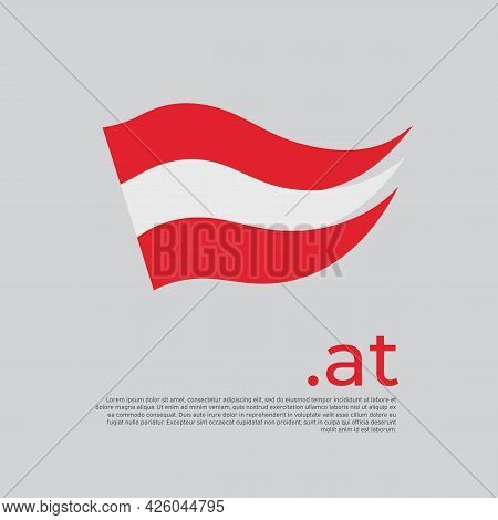 Austria Flag. Stripes Colors Of The Austrian Flag On A White Background. Vector Design National Post