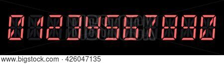 Fourteen-segment Digital Numbers Set For Electronic Watches, Calculators Or Any Other Devices With L