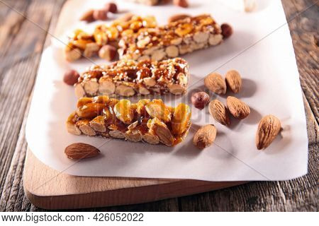 granola bar assortment with nuts