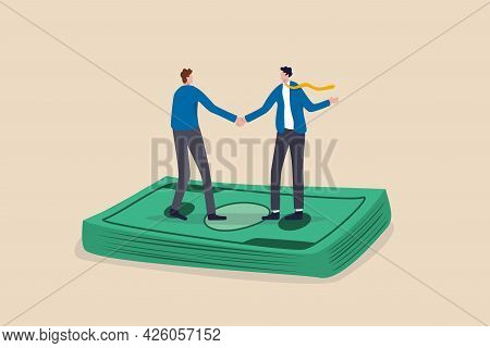 Salary Negotiation, Pay Raise Discussion Or Wages And Benefit Agreement, Business Deal Or Merger And