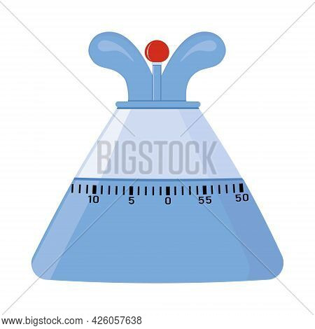 Kitchen Timer For Determining The Time, Color Vector Isolated Illustration