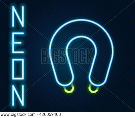 Glowing Neon Line Sausage Icon Isolated On Black Background. Grilled Sausage And Aroma Sign. Colorfu