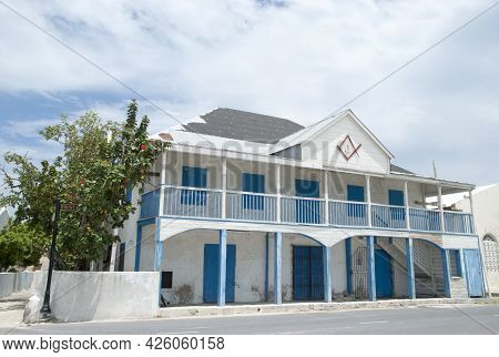 The Abandoned 19th Century Warehouse On Front Street, The Main Street In Cockburn Town On Grand Turk