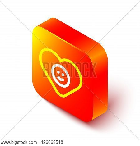 Isometric Line Good Relationship Icon Isolated On White Background. Romantic Relationship Or Pleasan
