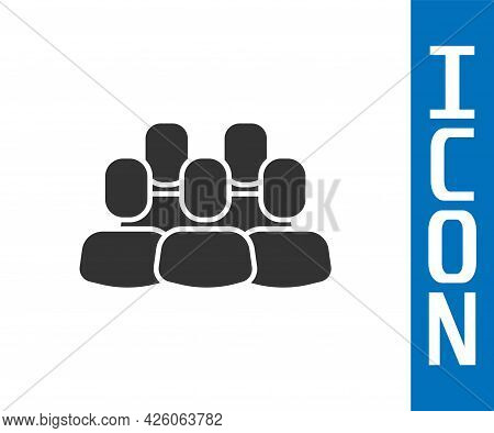 Grey Project Team Base Icon Isolated On White Background. Business Analysis And Planning, Consulting
