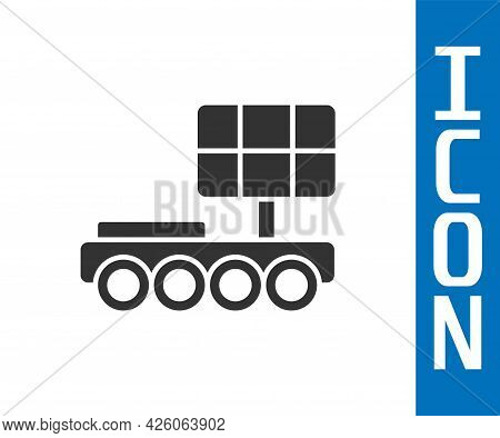 Grey Mars Rover Icon Isolated On White Background. Space Rover. Moonwalker Sign. Apparatus For Study