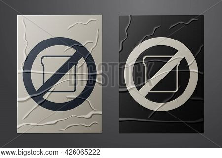 White Gluten Free Grain Icon Isolated White Background. No Wheat Sign. Food Intolerance Symbols. Pap