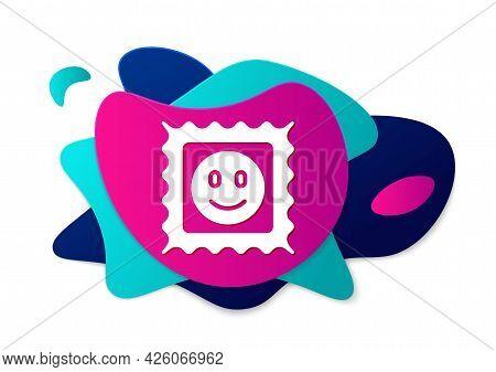 Color Lsd Acid Mark Icon Isolated On White Background. Acid Narcotic. Postmark. Postage Stamp. Healt